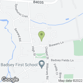 Map of Chris Tustin Scrap Cars in Badsey, Evesham, worcestershire