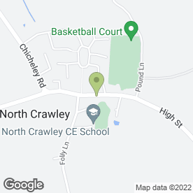 Map of The Cock Inn in North Crawley, Newport Pagnell, buckinghamshire