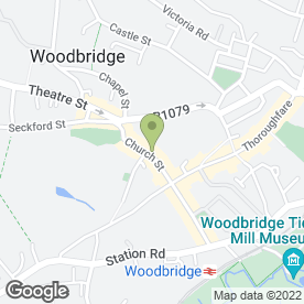 Map of JSM Property Management in Woodbridge, suffolk