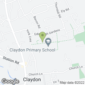 Map of Claydon Primary School in Claydon, Ipswich, suffolk