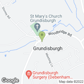 Map of The Grundisburgh Dog Inn in Woodbridge, suffolk