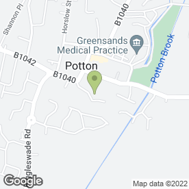 Map of W.J.E. White in Potton, Sandy, bedfordshire
