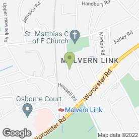 Map of Malvern Weddings in Malvern, worcestershire