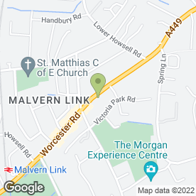 Map of Andrew Slater Hairdressing in Malvern Link, Malvern, worcestershire