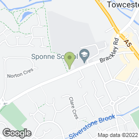 Map of Sponne School in Towcester, northamptonshire