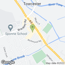 Map of Towcester Therapy Centre in Towcester, northamptonshire