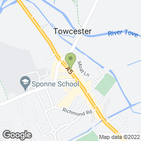 Map of Zig Zag Hair Studios in Towcester, northamptonshire