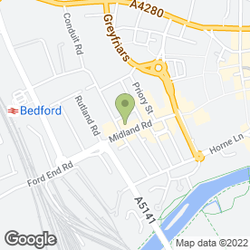 Map of Liberty Hairdressing & Training Academy in Bedford, bedfordshire