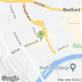 Map of HOMELINK PROPERTY SERVICES in Bedford, bedfordshire