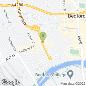 Map of Bedford Cafe & Sandwich Bar in Bedford, bedfordshire