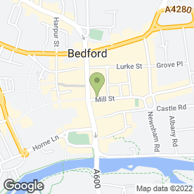Map of Elevation Estate Agents in Bedford, bedfordshire