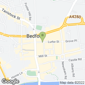 Map of Bedford Complementary Health Centre in Bedford, bedfordshire