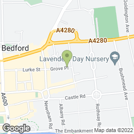 Map of Emmott Snell Solicitors in Bedford, bedfordshire