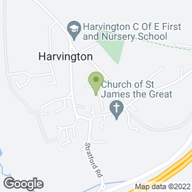 Map of Plan Studio Registered Architect in Harvington, Evesham, worcestershire