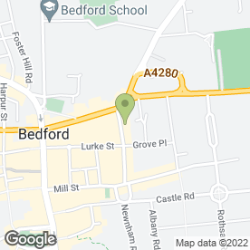 Map of GB Carpet & Flooring Contractors in Bedford, bedfordshire