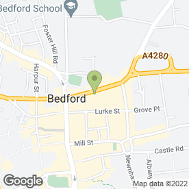 Map of Baker Brothers Jewellers in Bedford, bedfordshire