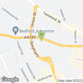 Map of Park Roofing Contractors Limited in Bedford, bedfordshire
