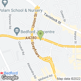 Map of Adams Moore Family Law in Bedford, bedfordshire