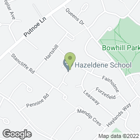 Map of Hazeldene Lower School in Bedford, bedfordshire