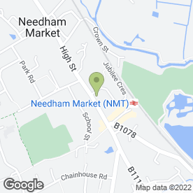 Map of Needham Market Dental Practice in Needham Market, Ipswich, suffolk