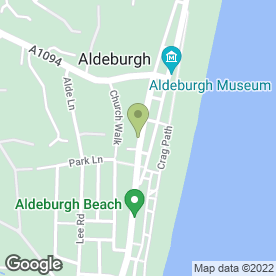 Map of The Lighthouse Restaurant in Aldeburgh, suffolk