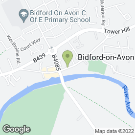 Map of Meadow Lane Bakery in Bidford-on-Avon, Alcester, warwickshire