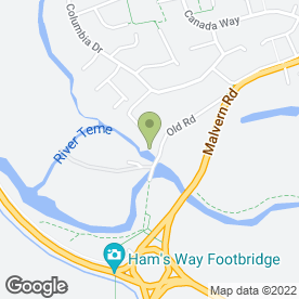 Map of Teme Acre Cattery in Worcester, worcestershire