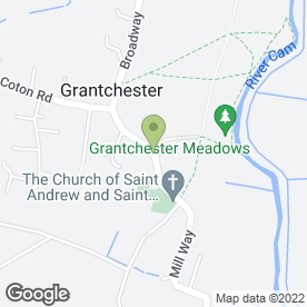 Map of Lee Milburn in Grantchester, Cambridge, cambridgeshire