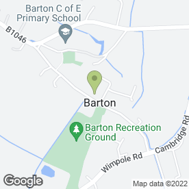 Map of The White Horse Inn in Barton, Cambridge, cambridgeshire