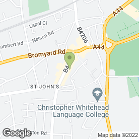 Map of St. Johns Window Centre in Worcester, worcestershire