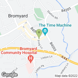 Map of Bromyard Laundrette in Bromyard, herefordshire