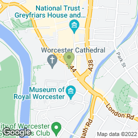 Map of The Hand in Glove in Worcester, worcestershire