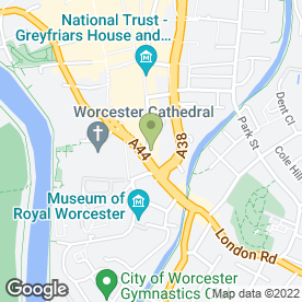 Map of Vue Cinema in Worcester, worcestershire