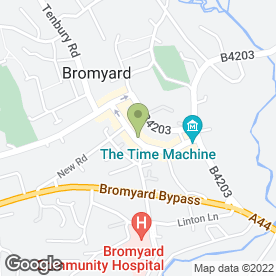 Map of Barry Bufton in Bromyard, herefordshire