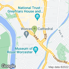 Map of Anglian Home Improvements (Anglian Windows Ltd) in WORCESTER, worcestershire