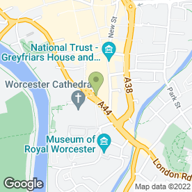 Map of Inspiration in Worcester, worcestershire