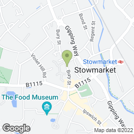 Map of F.G.Brown & Associates Ltd in Stowmarket, suffolk
