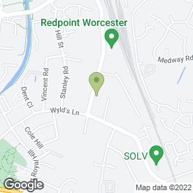 Map of Crown Coaches in Worcester, worcestershire