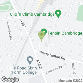 Map of Cineworld Cinemas in Cambridge, cambridgeshire