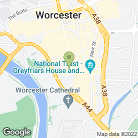 Map of Diva Hair & Beauty in Worcester, worcestershire
