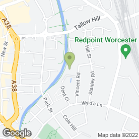 Map of Advance Couriers (U.K) Ltd in Vincent Road, Worcester, worcestershire