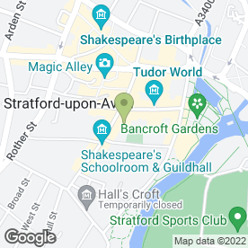 Map of Mercure Shakespeare Stratford in STRATFORD-UPON-AVON, warwickshire