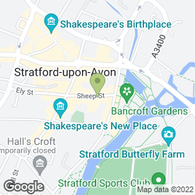 Map of Cafe Rouge in Stratford-Upon-Avon, warwickshire