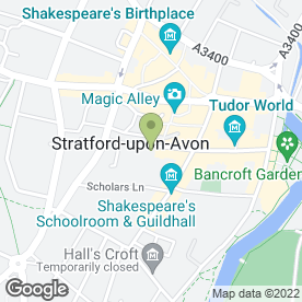 Map of S.W SALON in Stratford-Upon-Avon, warwickshire