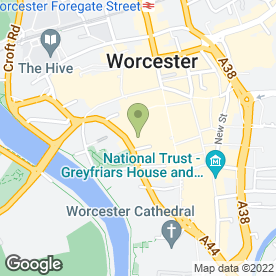 Map of Elgar School Of Music in Worcester, worcestershire