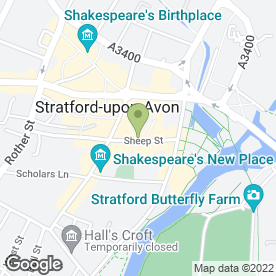 Map of The Golden Bee in Stratford-Upon-Avon, warwickshire