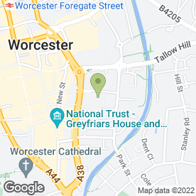 Map of Lloyds Pharmacy in Worcester, worcestershire