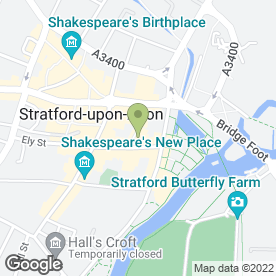 Map of Deviant Hair in Stratford-Upon-Avon, warwickshire