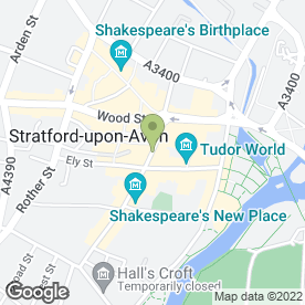 Map of Garrick Inn in Stratford-Upon-Avon, warwickshire