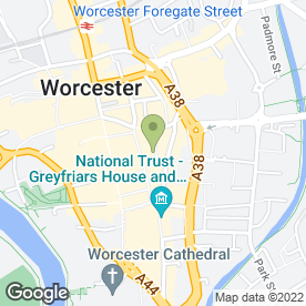 Map of Beautiful Flowers in Worcester, worcestershire